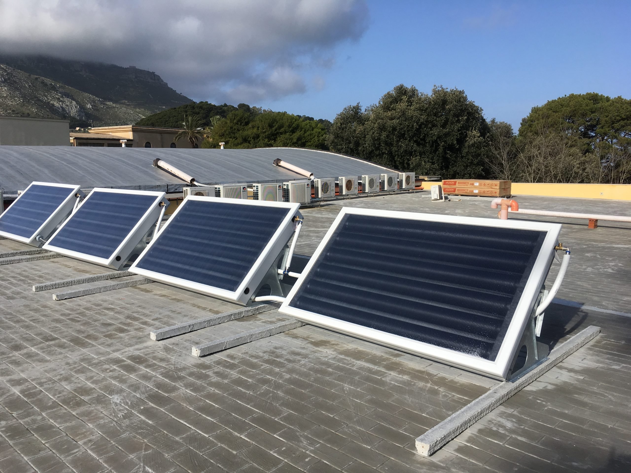 Energia Solare In Sicilia pannelli solari a servizio della mensa - energy management